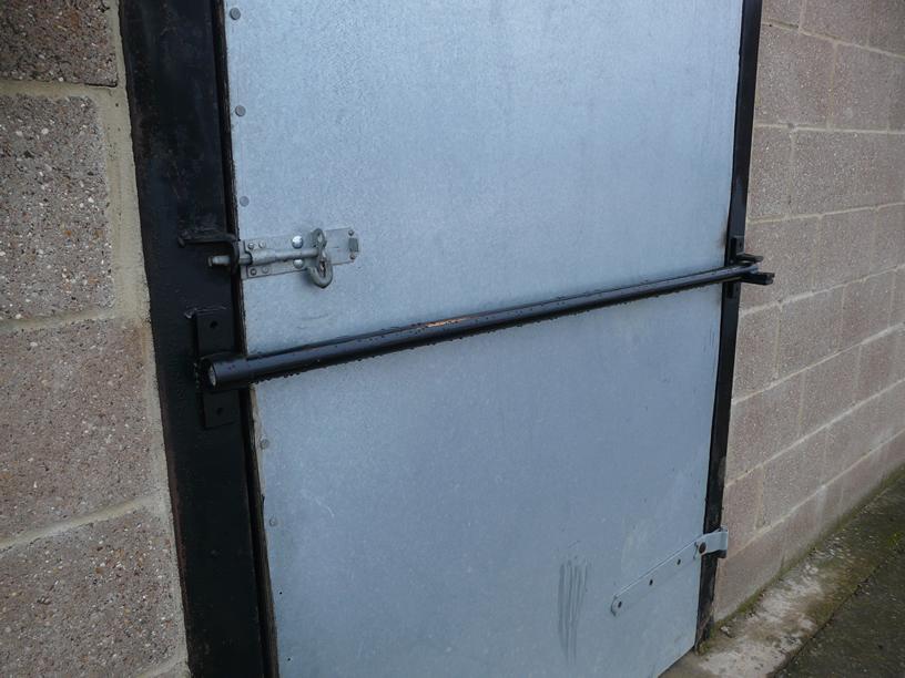 Security doors security door how to install for Front door security bar